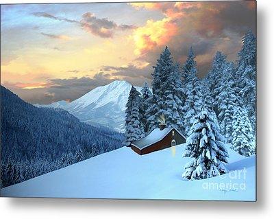 Home And Hearth Metal Print by Corey Ford