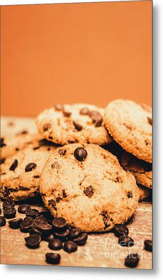 Home Baked Chocolate Biscuits Metal Print by Jorgo Photography - Wall Art Gallery