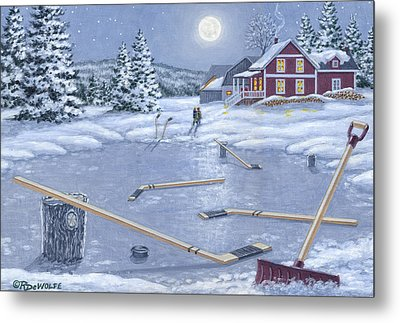 Home For Supper Metal Print by Richard De Wolfe
