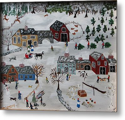 Home For The Hoildays Metal Print by Lee Gray