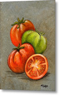 Home Grown Tomatoes Metal Print by Elaine Hodges