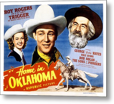 Home In Oklahoma, Dale Evans, Roy Metal Print by Everett