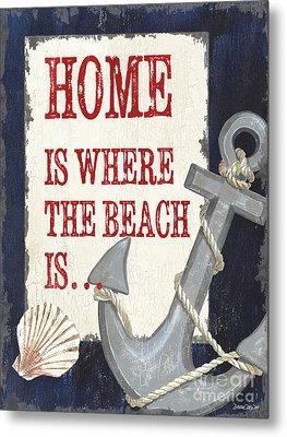 Home Is Where The Beach Is Metal Print by Debbie DeWitt