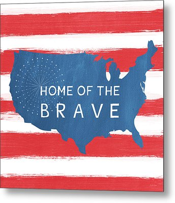 Home Of The Brave Metal Print by Linda Woods