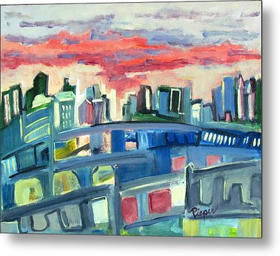 Home To The Softer Side Of City Metal Print by Betty Pieper