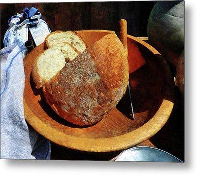 Homemade Bread Metal Print by Susan Savad