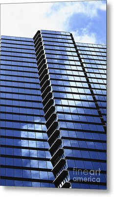 Honolulu Skyscraper Metal Print by Brandon Tabiolo - Printscapes