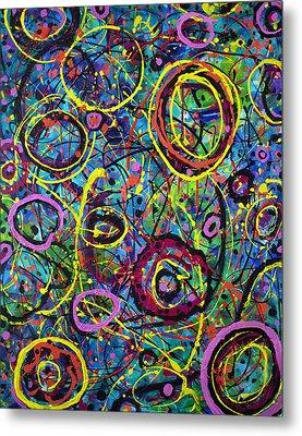Hoopla Metal Print by Lynda Lehmann