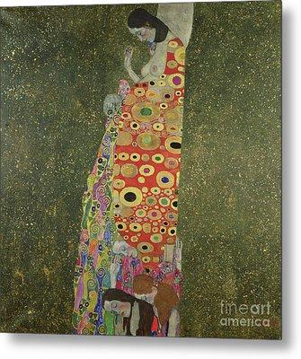 Hope II Metal Print by Gustav Klimt