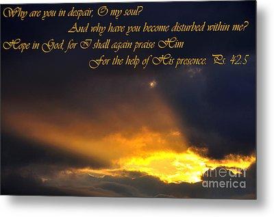 Hope In God Metal Print by Thomas R Fletcher