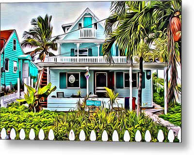 Hopetown Homes Metal Print by Anthony C Chen