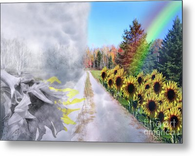 Hoping For A Better Life Metal Print by Cathy  Beharriell