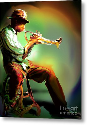 Horn Player II Metal Print by Mike Massengale