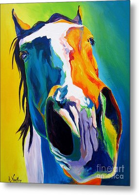 Horse - Up Close And Personal Metal Print by Alicia VanNoy Call