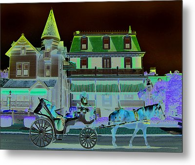 Horse And Buggy Metal Print by Paul Barlo