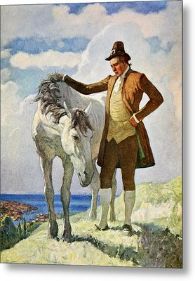 Horse And Owner Metal Print by Newell Convers Wyeth