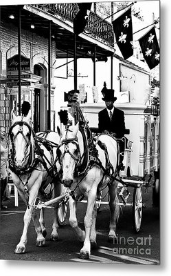 Horse Drawn Funeral Carriage Metal Print by Kathleen K Parker