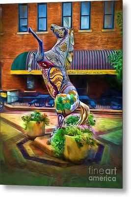 Horse Of Another Color Metal Print by Jon Burch Photography