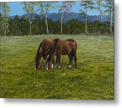 Horses Of Romance Metal Print by Mary Ann King