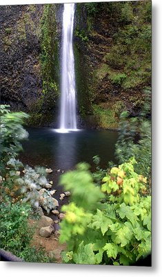 Horsetail Falls Basin Metal Print by Marty Koch