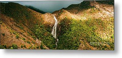 Horsetail Falls In Queenstown Tasmania Metal Print by Jorgo Photography - Wall Art Gallery