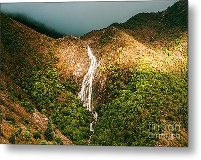 Horsetail Waterfalls Tasmania  Metal Print by Jorgo Photography - Wall Art Gallery