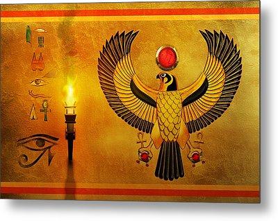 Horus Falcon God Metal Print by John Wills