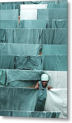 Hospital Laundry Metal Print by Mauro Fermariello