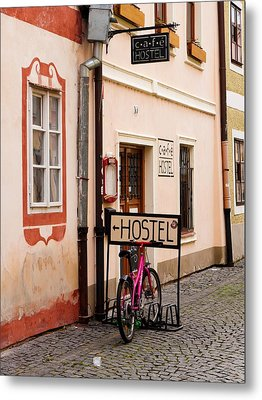 Hostel Parking Metal Print by Rae Tucker