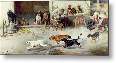 Hot Pursuit Metal Print by William Henry Hamilton Trood