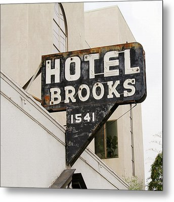 Hotel Brooks Metal Print by Art Block Collections
