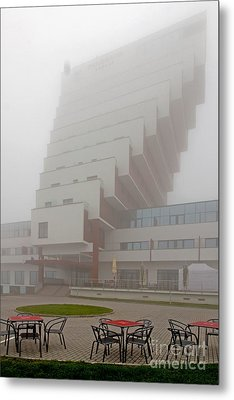 Hotel Panorama Slovakia Metal Print by Christian Hallweger