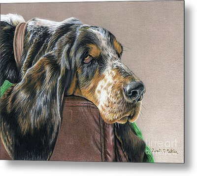 Hound Dog Metal Print by Sarah Batalka
