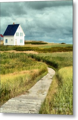 House At The End Of The Boardwalk Metal Print by Edward Fielding