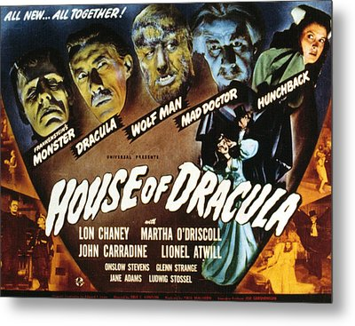 House Of Dracula, Glenn Strange, John Metal Print by Everett