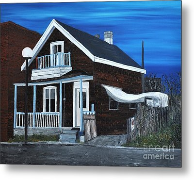 House On Hadley Street Metal Print by Reb Frost
