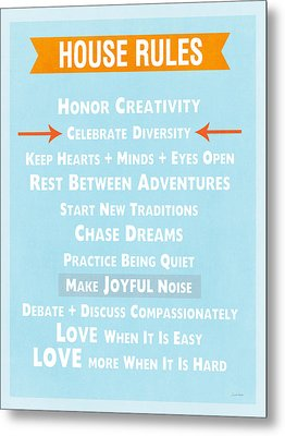 House Rules-contemporary Metal Print by Linda Woods