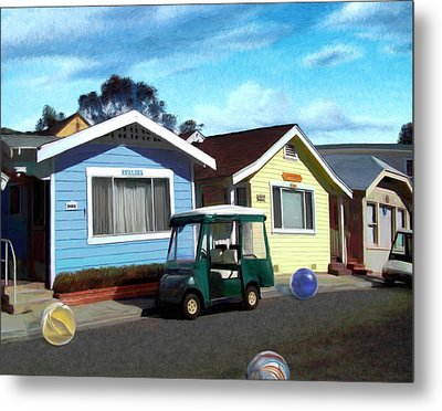 Houses In A Row Metal Print by Snake Jagger