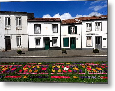Houses In The Azores Metal Print by Gaspar Avila