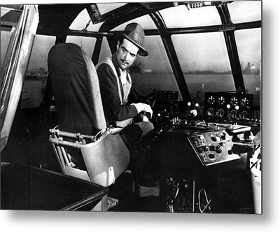 Howard Hughes, At The Controls Metal Print by Everett