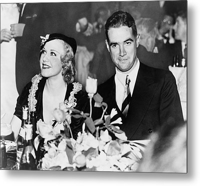 Howard Hughes Dated And Was Engaged Metal Print by Everett