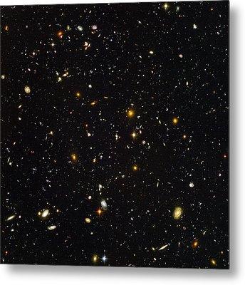 Hubble Ultra Deep Field Galaxies Metal Print by Nasaesastscis.beckwith, Hudf Team