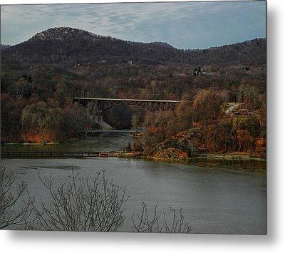 Hudson River From The Appalachian Trail Metal Print by Raymond Salani III