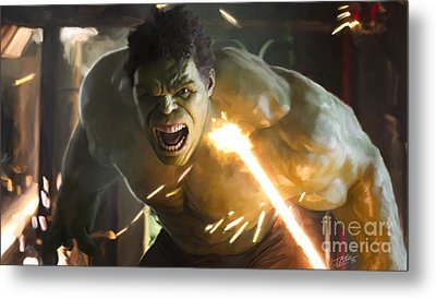 Hulk Metal Print by Paul Tagliamonte