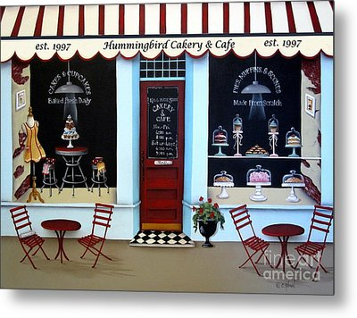 Hummingbird Cakery And Cafe Metal Print by Catherine Holman