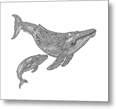 Humpback And Calf Metal Print by Carol Lynne