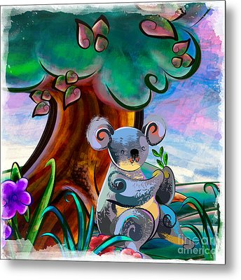 Hungry Koala Metal Print by Bedros Awak