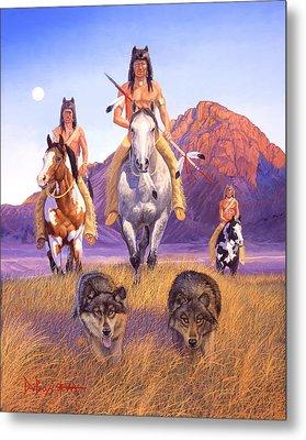 Hunters Of The Full Moon Metal Print by Howard Dubois