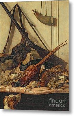 Hunting Trophies Metal Print by Claude Monet