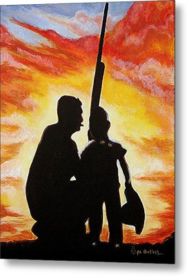 Hunting With My Dad Metal Print by Al  Molina